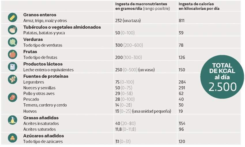 dieta sana alimentos