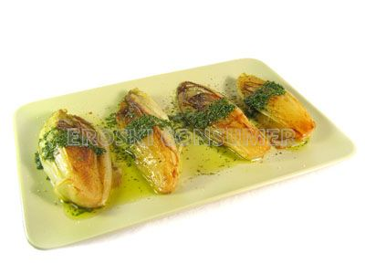Endibias a la plancha con vinagreta de hierbas