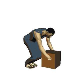 Levantar pesos protegiendo la espalda