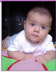 El bebé de tres meses