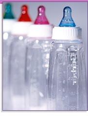 Extracción y biberones de leche materna