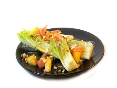 Receta de ensalada de endibias, jamón y maíz
