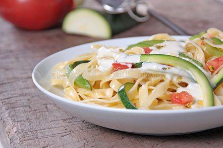 Tagliateles de calabacín y queso gorgonzola
