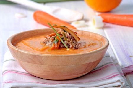 Puré de zanahorias y naranja