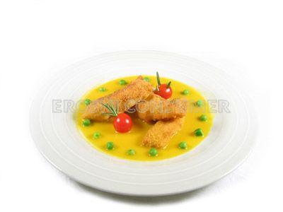 Filetes de halibut con salsa ligera de naranja
