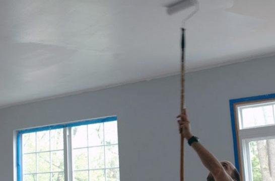 Como pintar techos y paredes gallery of dormitorio con las paredes pintadas con efecto - Como pintar paredes y techos ...