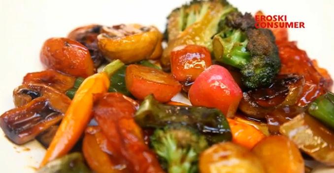 El glaseado de verduras