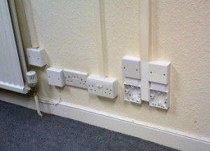 Canaletas cables electricos