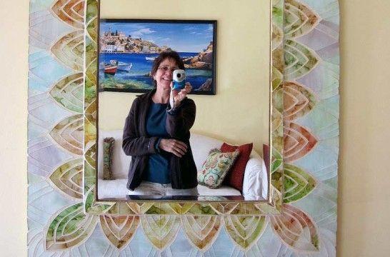 Decorar el marco de un espejo eroski consumer for Marcos de espejos originales
