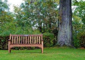 Bancos de madera en el jard n eroski consumer for Bricolaje para el jardin