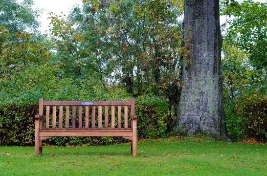 Bancos de madera en el jard n eroski consumer - Bancos para jardin baratos ...