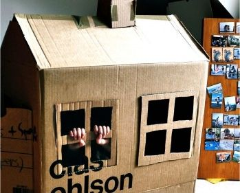 Juegos de ni os muy ecol gicos fabricar casas de cart n y - Casas para ninos de carton ...