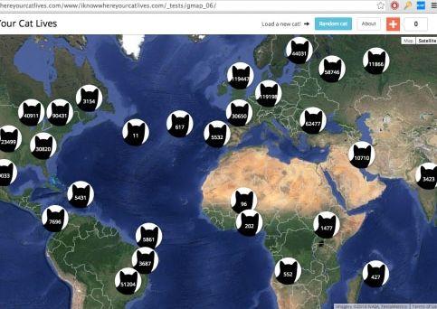 Worksheet. Cuntos gatos viven en su barrio Este mapa le permite saberlo