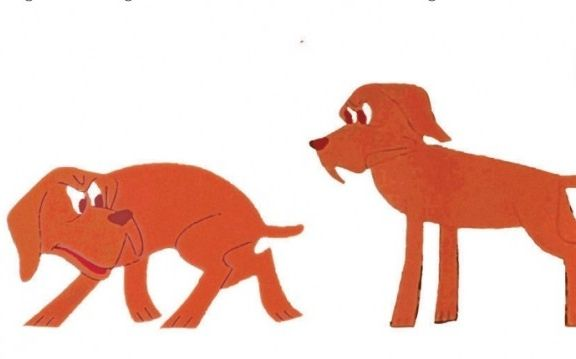 Asustado Dibujos De Perros