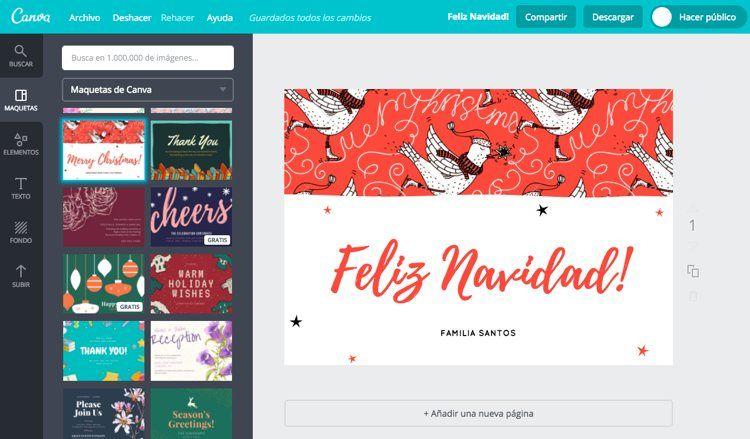 6 aplicaciones y webs para crear felicitaciones de Navidad | EROSKI ...