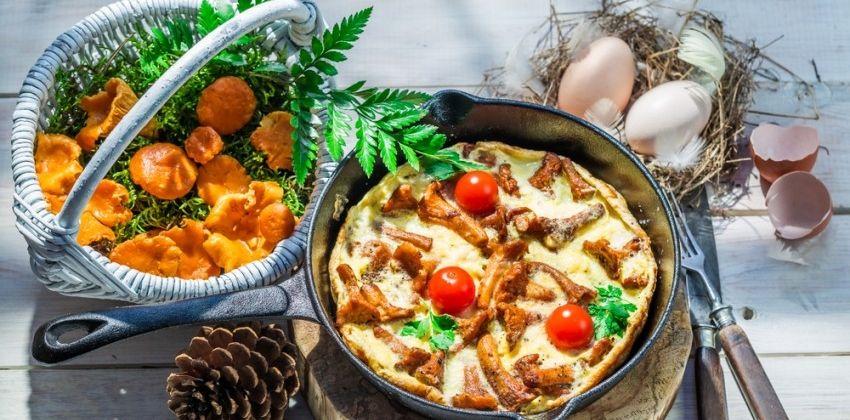 Tortilla de setas y otros platos fáciles de temporada