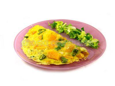 receta de tortilla de calabaza con cebolla