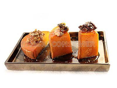 Tacos de calabaza asada al horno con nueces y miel