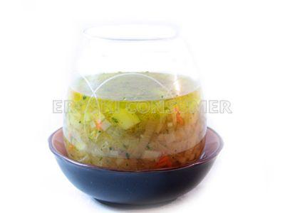 Sopa de puerros y cebolla
