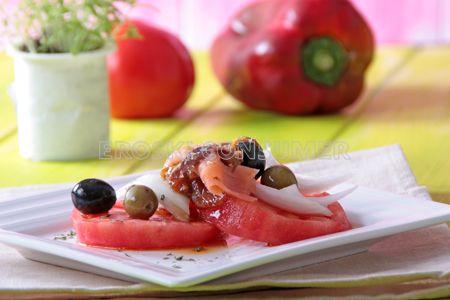 Ensalada de tomate y pimiento