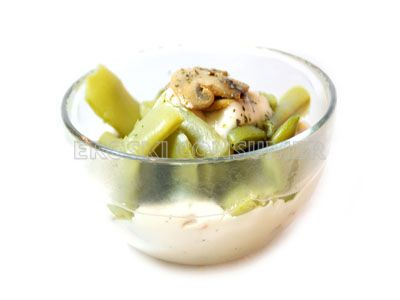 Judías verdes con salsa Bretona