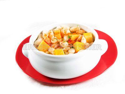 Receta de alubias blancas con calabaza eroski consumer for Como cocinar alubias blancas