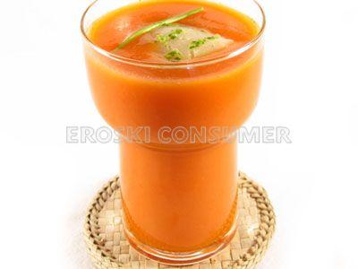 Batido frío de tomate, pepino y limón