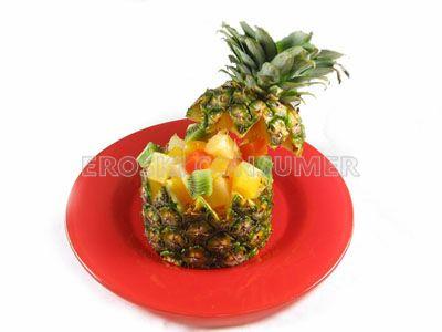 Piña Baby, rellena con frutas tropicales