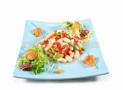 Receta de ensalada de jud as blancas con salm n ahumado eroski consumer - Ensalada fria de judias blancas ...