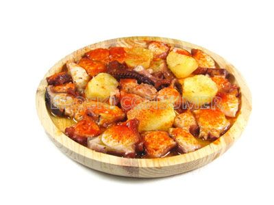 Receta de pulpo a la gallega con patatas eroski consumer for Cocinar pulpo
