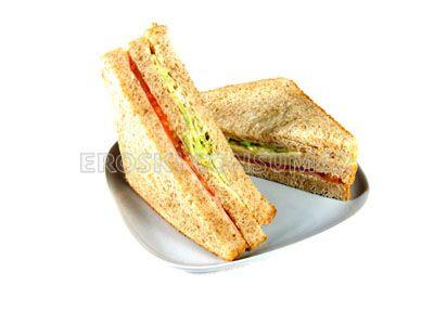 Receta De Sandwich Vegetal Con Pan Integral Eroski Consumer